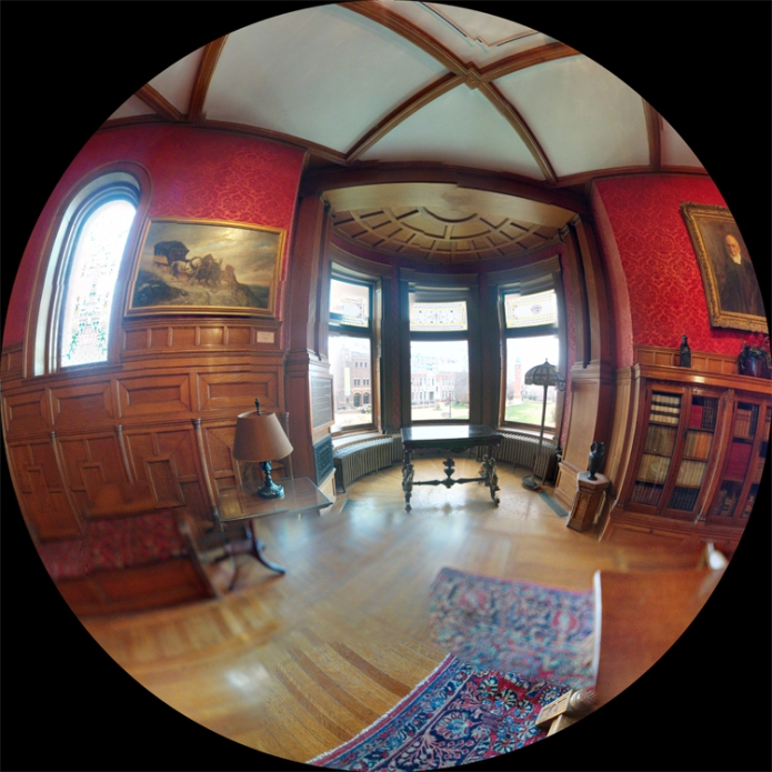 Cupples Library fisheye