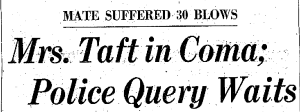 Pasadena Independent april 23 1960 taft coma headline