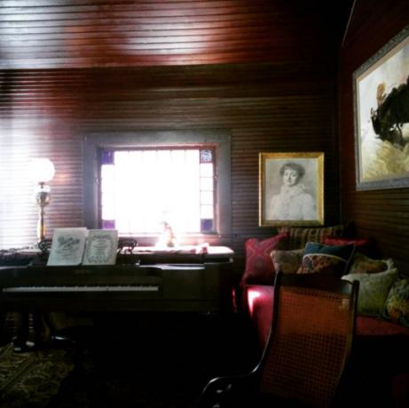 Mme. Modjeska's music room with its ship-like construction.