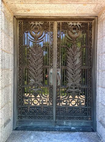Oak Grove Cemetery mausoleum doors