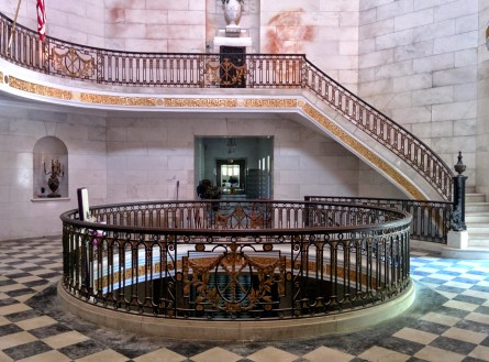 Oak Grove Cemetery mausoleum beneath the dome