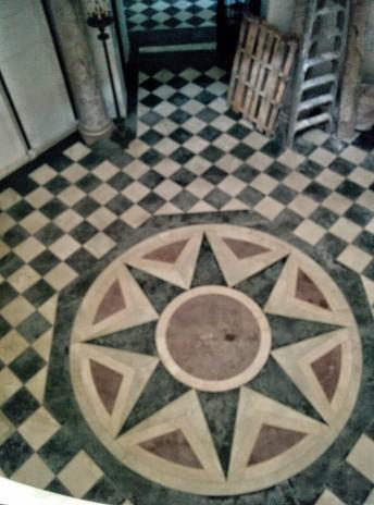 Oak Grove Cemetery mausoleum star floor