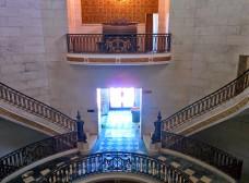 Oak Grove Cemetery mausoleum stairs