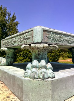 Oak Grove Cemetery mausoleum footer