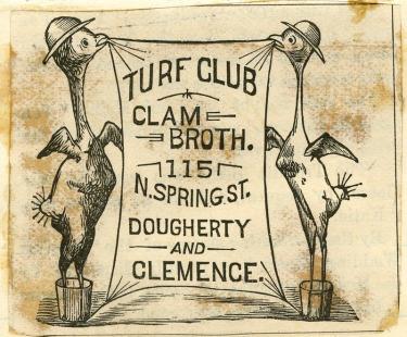 Turf Club clam broth 1887