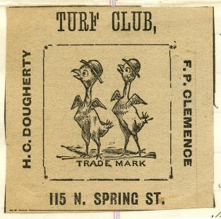 Turf Club picked chicks 1885