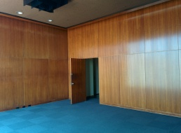 Sleek walls in the Norman Chandler Pavilion