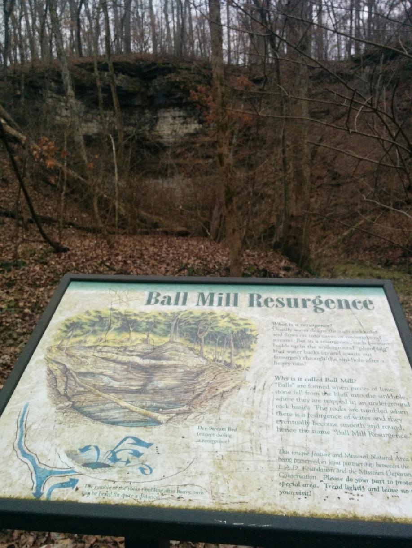 Ball Mill Resurgence interpretive sign
