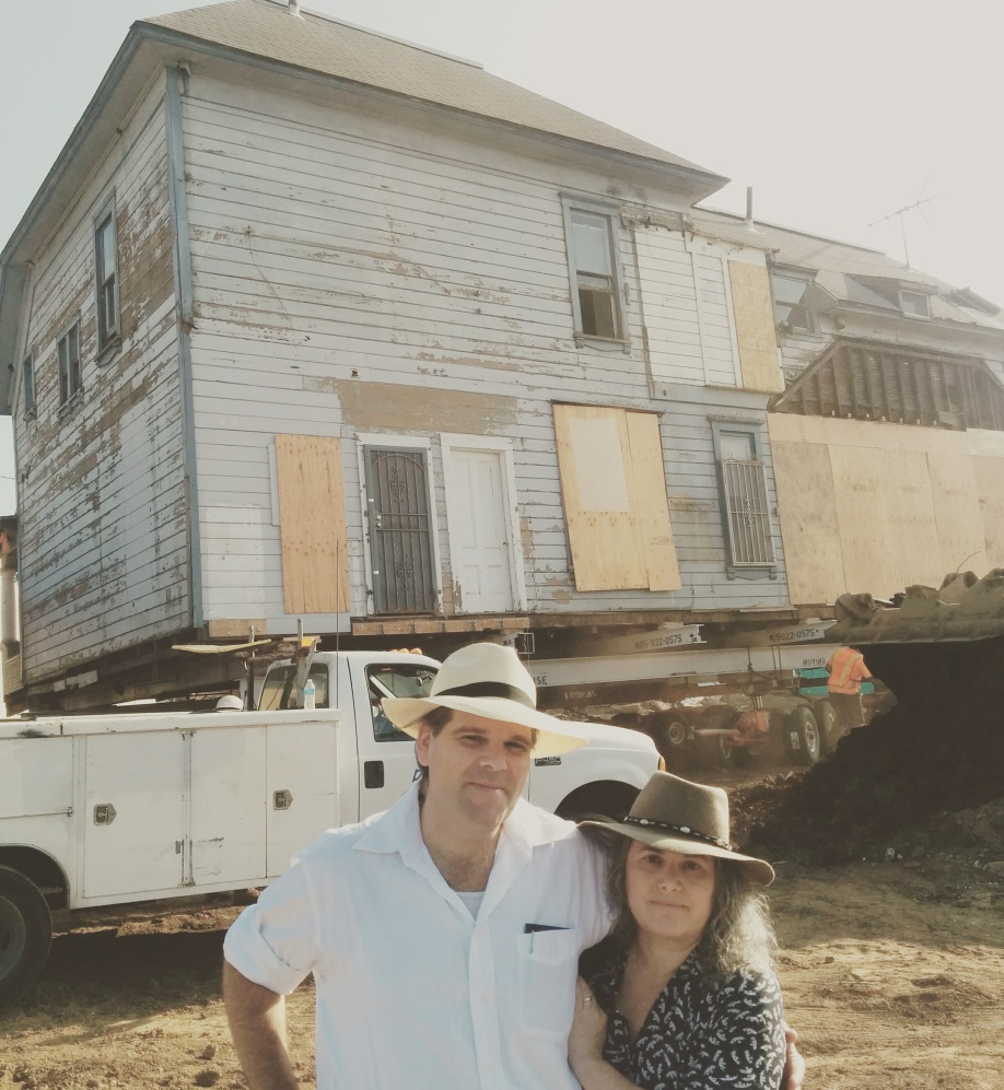 Richard Schave and Kim Cooper, happy preservationists