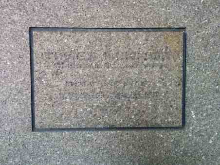 Times Mirror Square Dedication Stone 1973 - defaced 2016