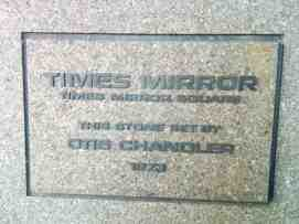Times Mirror Square Dedication Stone 1973 - Pereira Addition