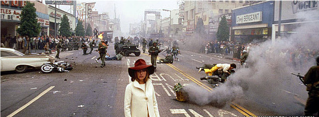Alex In Wonderland  (1970) - Hollywood Blvd w/ Jeanne Moreau