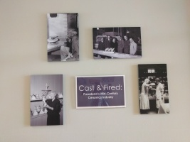 Cast & Fired title wall
