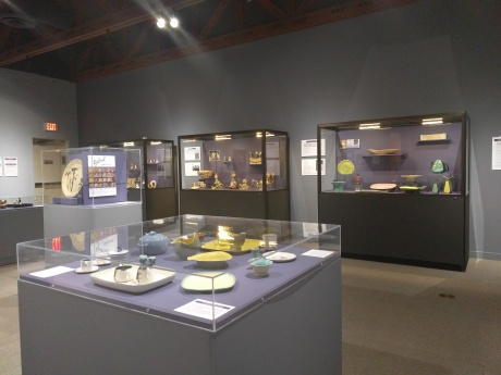 mid-century ceramic novelties installation