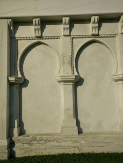 Moorish details on the Carter mausoleum