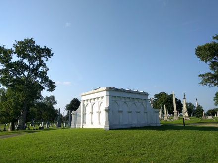 Daniel F. Carter mausoleum, which shines like spun sugar