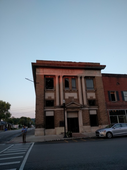 Doomed bank in the golden hour