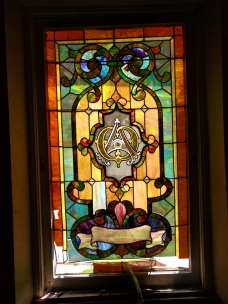 Westminster Presbyterian Church alpha and omega glass