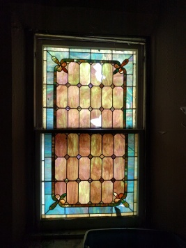 Westminster Presbyterian Church art glass lozenges