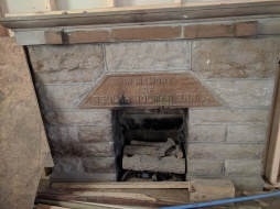 Westminster Presbyterian Church fireplace