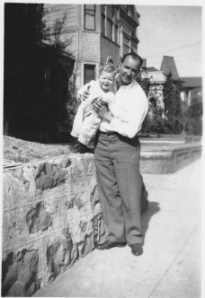 Gordon and Uncle Mickey on South Bunker Hill Ave. 1947
