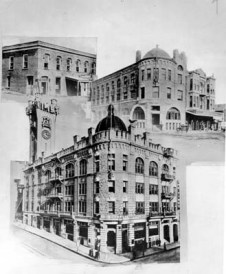 Composite of first three LA Times Buildings
