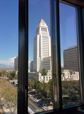 City Hall from Timer Mirror HQ